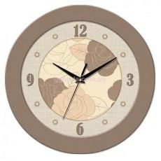 Часы с розами светло-коричневые