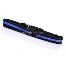 Сумка для бега на пояс черно-синяя