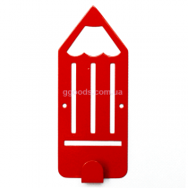 Вешалка настенная Карандаш красный