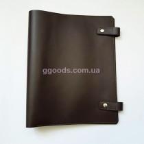Папка-скоросшиватель для документов темно-коричневая