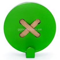 Вешалка настенная Пуговица Green