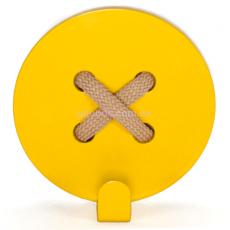 Вешалка настенная Пуговица Yellow