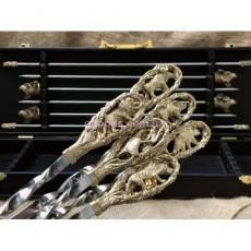 Набор шампуров в кейсе с мангалом На охоте