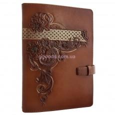 Ежедневник женский со сменными листами Астры коричневый