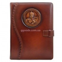 Ежедневник со сменный блоком Князь Владимир коричневый