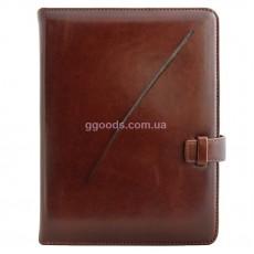 Ежедневник со съемной обложкой Метка коричневый