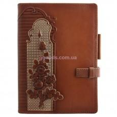 Ежедневник женский со сменным блоком Розы коричневый