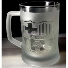 Пивной бокал с гравировкой FC Barcelona