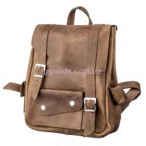 Кожаный рюкзак Crazy horse унисекс коричневый