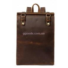 Кожаный дорожный рюкзак Vintage Коричневый