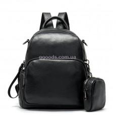 Женский кожаный рюкзак Флотар съемный карман