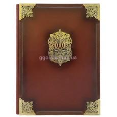 Папка Державная с литьем (кожа)