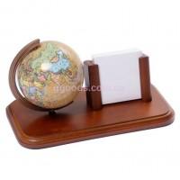 Настольный глобус с карманом для бумаг