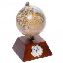 Глобус с часами настольный