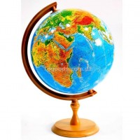 Глобус на деревянной подставке 320 мм