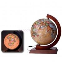 Ретро глобус с подсветкой на подставке 320 мм