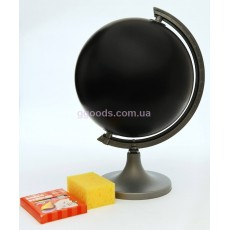 Глобус черный Нарисуй сам 250 мм