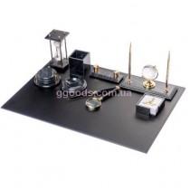 Настольный набор Черный мрамор на 10 предметов