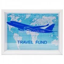 Копилка для бумажных денег белая Самолет