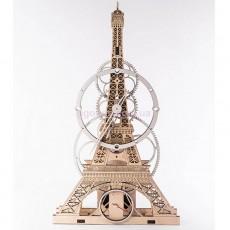 Настенные часы Эйфелева башня бежевые
