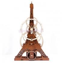 Настенные часы Эйфелева Башня (Париж, Франция) коричневые