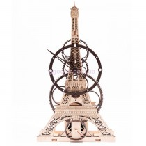 Настенные часы Эйфелева башня черно-белые