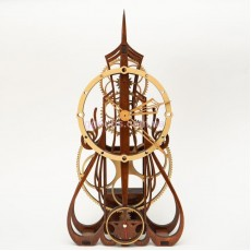 Настенные часы с деревянным механизмом Готика