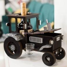 Подставка для бутылки мини-бар Трактор