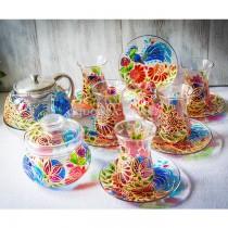 Армуды с чайником и сахарницей Павлин