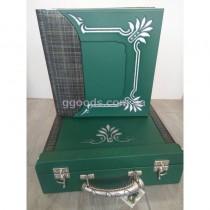 Кожаный фотоальбом Mambo green