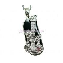 Флешка Гитара розовый камень