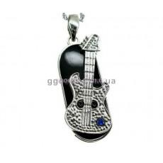 Флешка Гитара с синим камнем