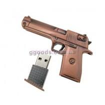 Флешка Пистолет бронзовый цвет