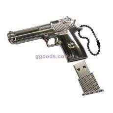 Флешка Пистолет серебристая