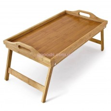 Бамбуковый столик для завтрака с ручками  TB01