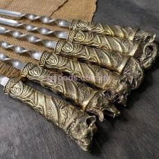Набор шампуров Привал в кожаном колчане