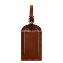 Бирка для багажа светло-коричневая