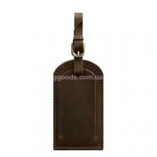 Бирка для багажа темно-коричневая