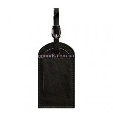 Бирка для багажа угольно черная