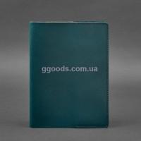 Обложка для блокнота зеленая краст А5
