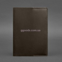 Обложка для блокнота темно-коричневая А5