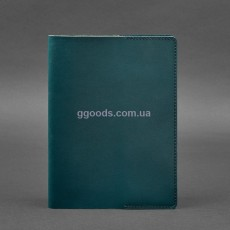 Обложка для блокнота Moleskine А5 кожаная зеленая