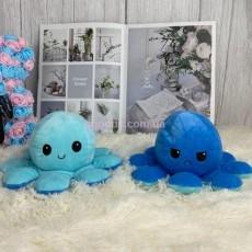 Игрушка осьминог двусторонний синий/голубой