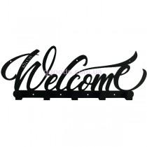 Вешалка настенная Welcome черная