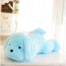 Плюшевая светящаяся собака голубая