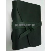 Блокнот А5 темно-зеленый чистые листы