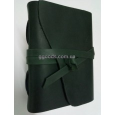 Блокнот А5 темно-зеленый в линию