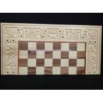 Шахматы-нарды Бой за корону светлые