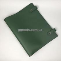 Папка для документов кожаная со скоросшивателем зеленая
