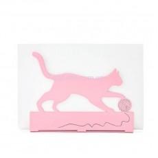 Салфетница Кот с клубком розовая